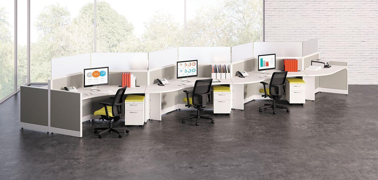 Hon White Zig Zag desk for students or office