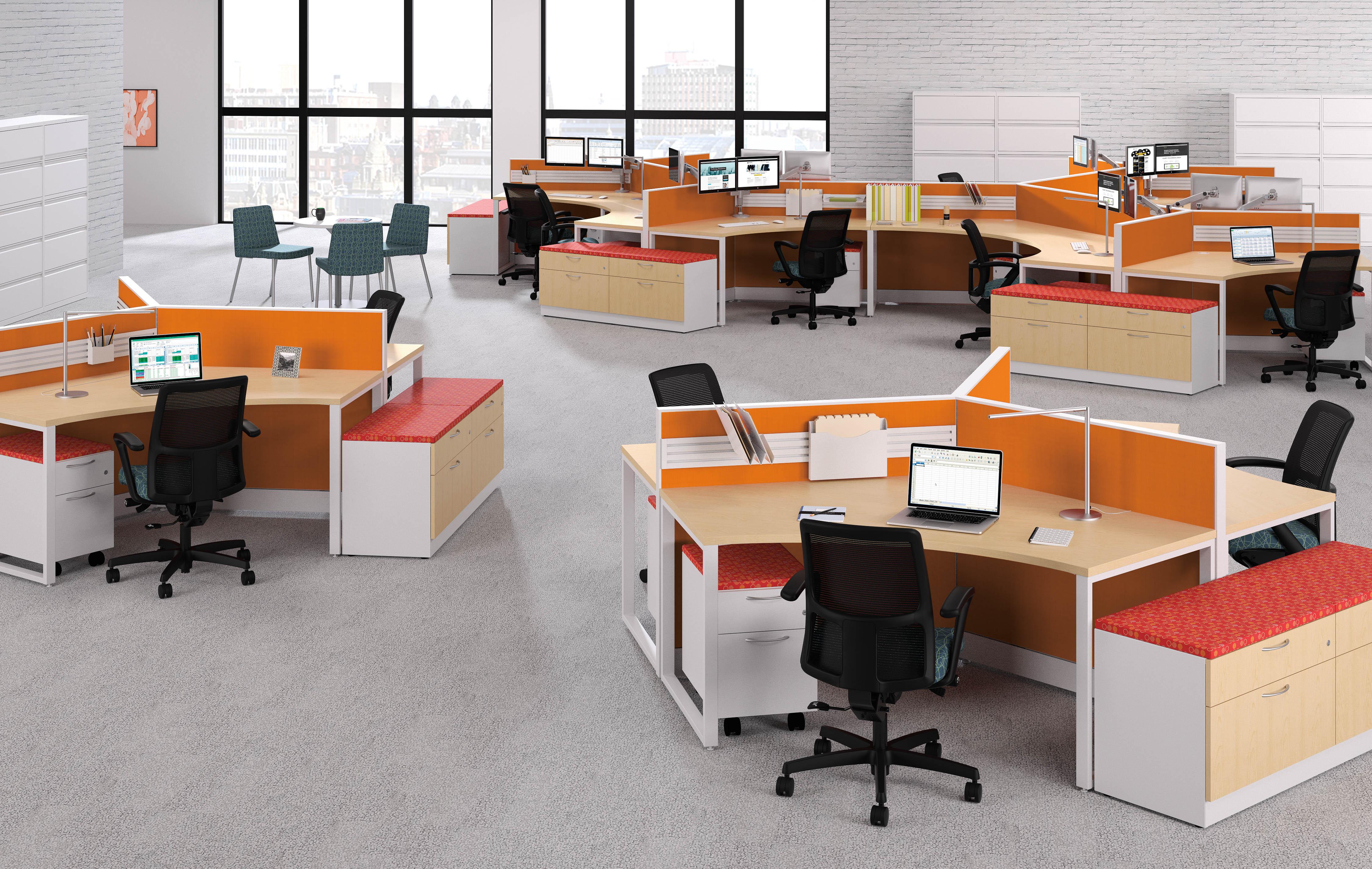 Customizable office desk hubs